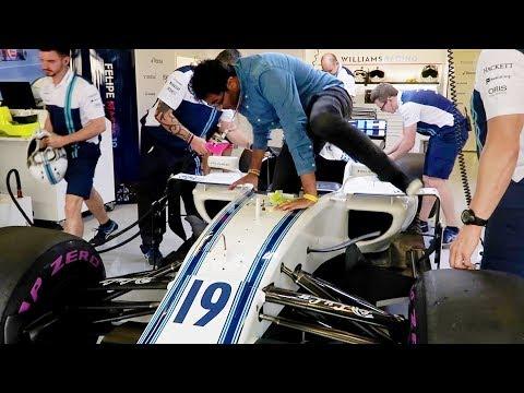 SITTING IN MASSA'S ACTUAL F1 2017 RACECAR IN ABU DHABI!