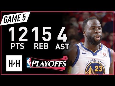Draymond Green Full Game 5 Highlights vs Rockets 2018 NBA Playoffs WCF - 12 Pts, 15 Reb, 4 Ast!