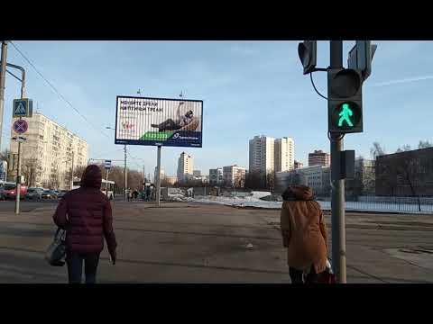 Москва 7 - улица Ангарская Коровинское шоссе район бескудниковский до метро Селигерская зимой днём