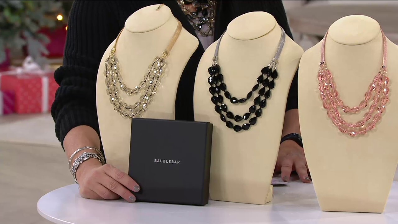 BaubleBar Crystal Beaded Layered Necklace on QVC YouTube