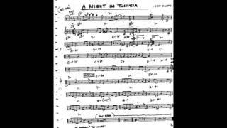 A Night in Tunisia Play along - Backing track (C  key score violin/guitar/piano)