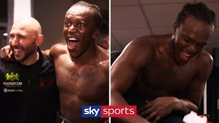 EXCLUSIVE! KSI DRESSING ROOM CELEBRATIONS AFTER BEATING LOGAN PAUL! 🎉