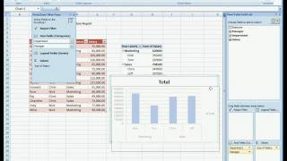 (HD) (CC) Pivot Tables (PivotTable) in Excel 2007 (including compatibility mode),  basic PivotChart thumbnail