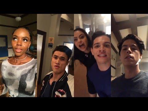 Riverdale Cast | Snapchat Story | 11 October 2017 [Season 2 Premiere ]