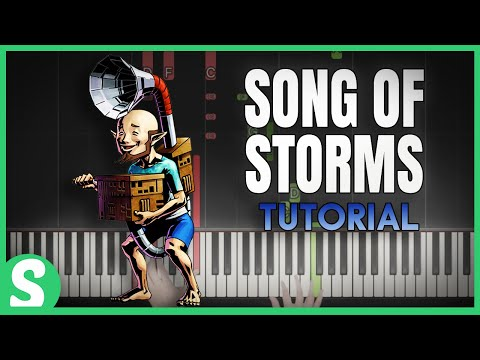 "How to Play ""SONG OF STORMS"" from LoZ - Ocarina of Time (Synthesia) [Piano Tutorial] [HD]"