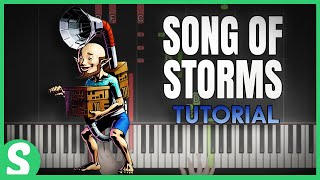 How to Play SONG OF STORMS from LoZ - Ocarina of Time | Smart Game Piano | Video Game Music