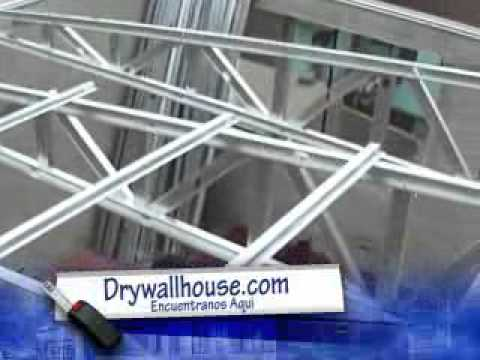 Construccion en drywall explicacion proformadrywall for Techos en drywall para casas
