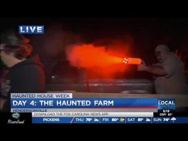 The Haunted Farm 2019 | Joe Gagnon of Fox Carolina News visits the Best Haunted House in NC