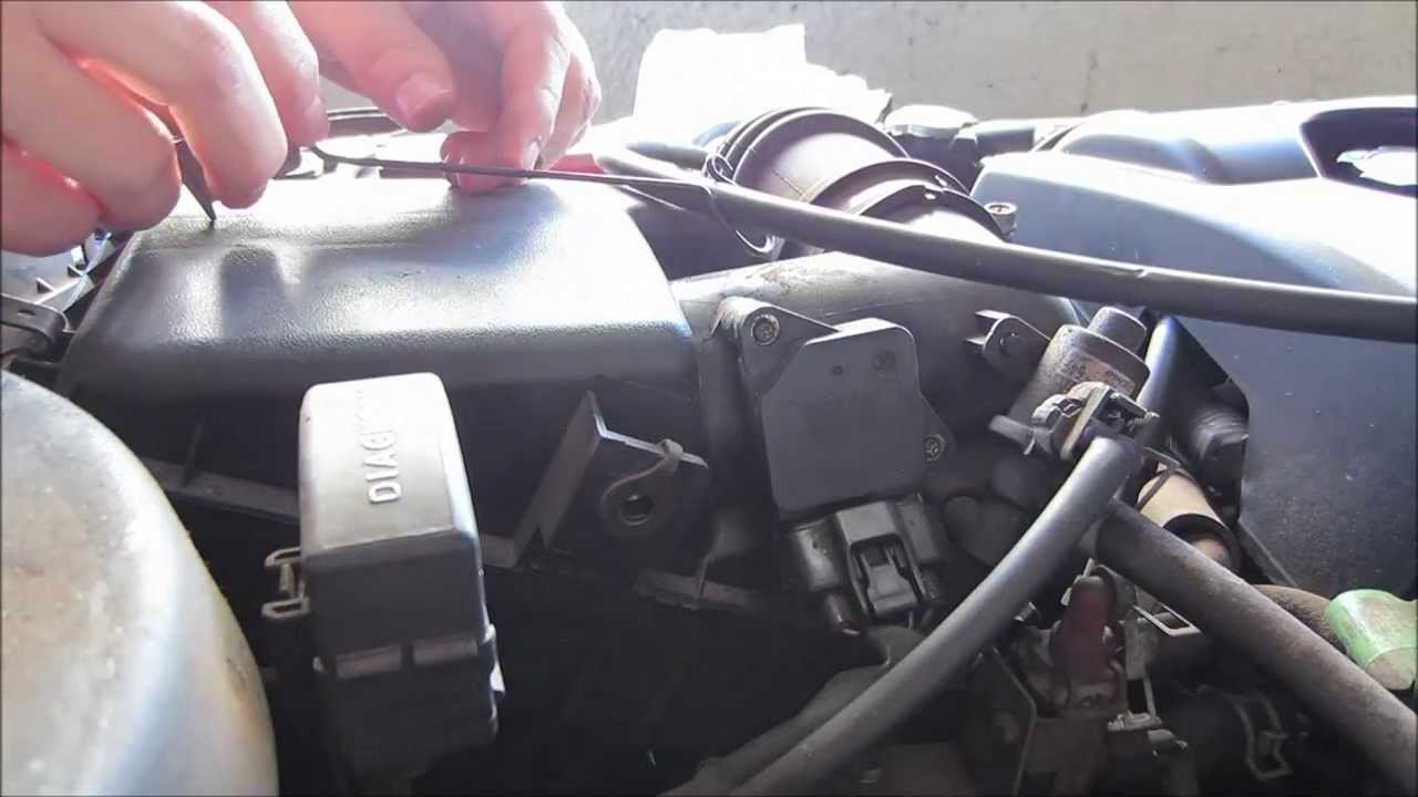 Mass Air Flow Sensor Replacement 2000 Corolla Youtube