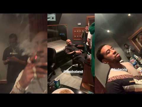 Davido In Studio Records with Timbaland & Ludacris