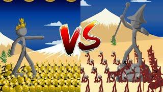 - 180 Golden Speartons VS Magikill Insane MODE C aign Stick War Legacy