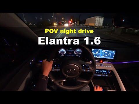 2021 Hyundai Elantra G1.6 POV night drive