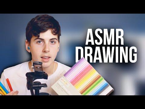 ☁ ASMR Drawing Time ☁ Marker Pens ~ Binaural Sounds ~ Study
