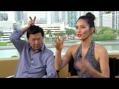 Exactly how FUNNY is Ken Jeong when put on the spot? Olivia Munn finds out... (Ride Along 2)