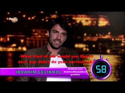 "İbrahim Çelikkol's answers in 60 seconds from the tv show ""Saba Tumer'le bu gece""!"