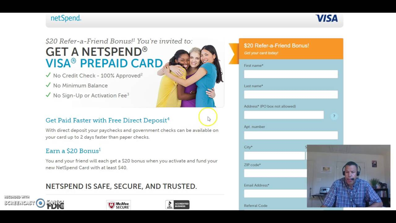 net spend card prepaid debit card guaranteed visa no credit check ...