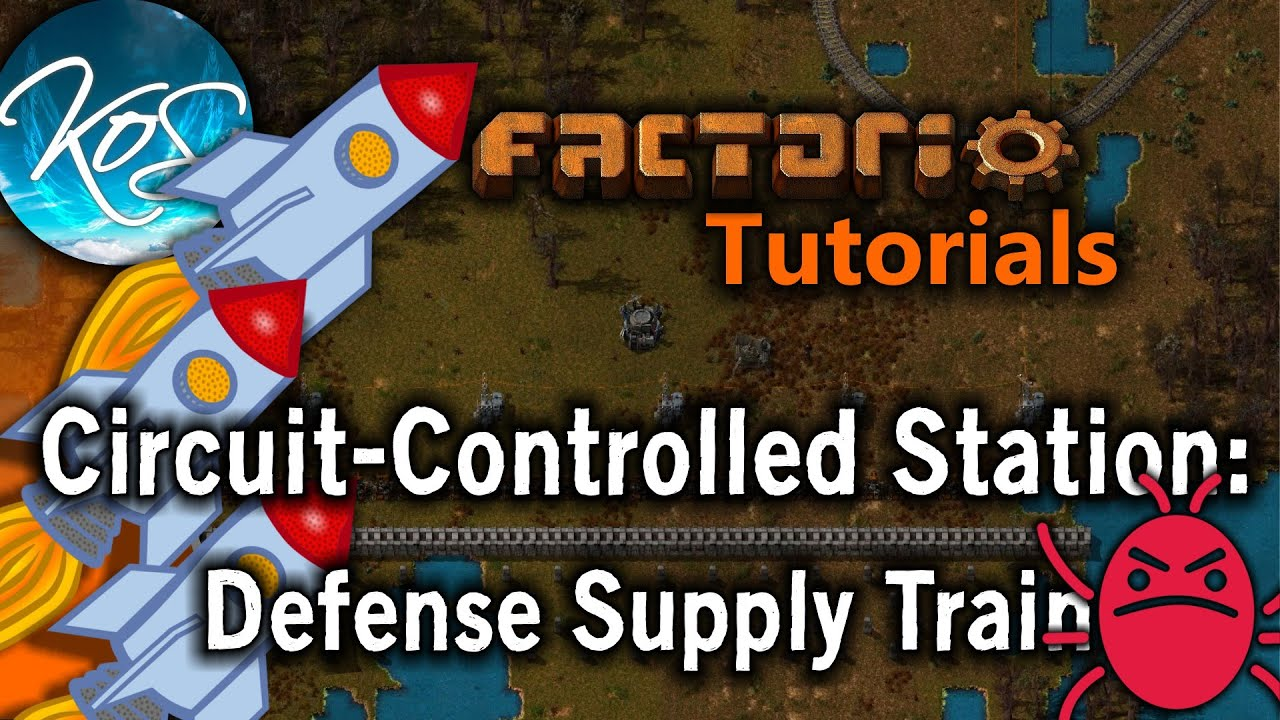 Factorio Tutorials: Wall Repair Supply Station - Unload using COMBINATORS  -- Explained!