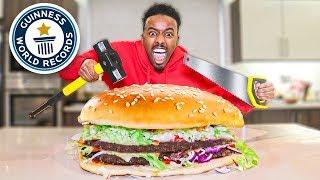 World's Largest Burger (DIY GIANT FOOD CHALLENGE)