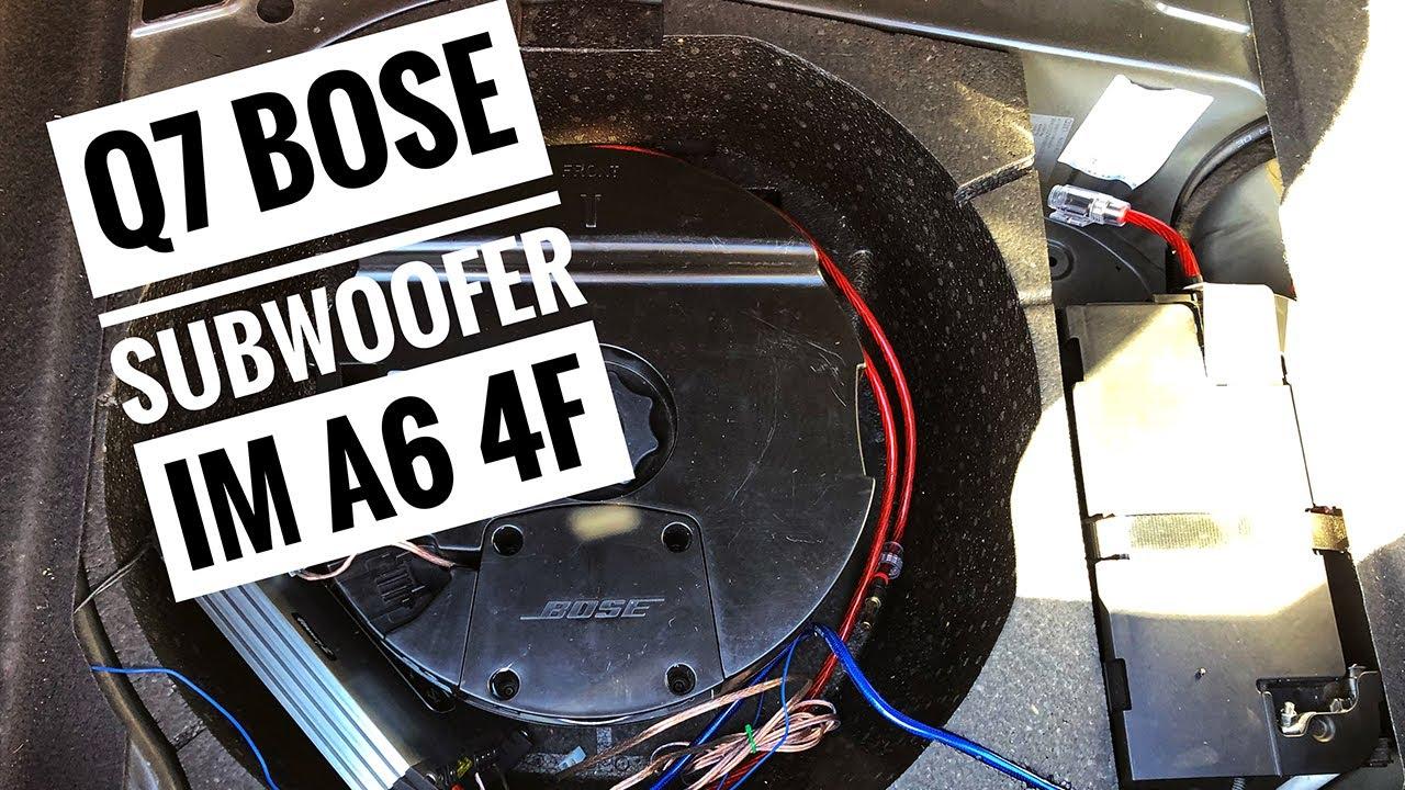Audi A6 4F - Q7 Bose Subwoofer