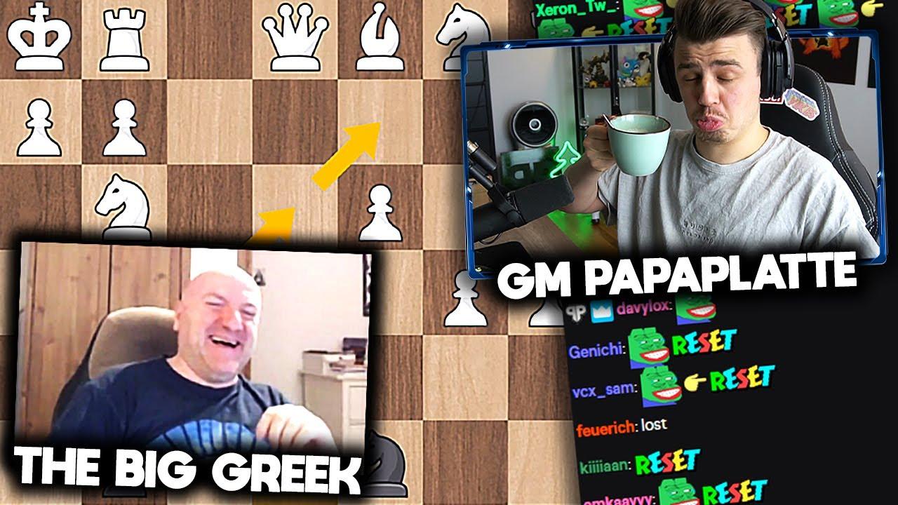 Ich lerne SCHACH spielen! ♟️ (mit The Big Greek) | Papaplatte Gaming