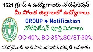 telangana group 4 notification released || TSPSC group 4 notification full details