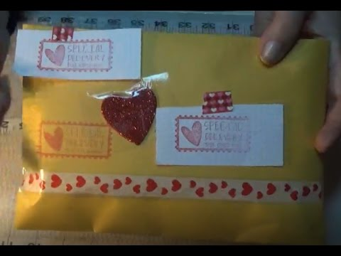 Valentines day pocket letter finished and ready to mail pocket