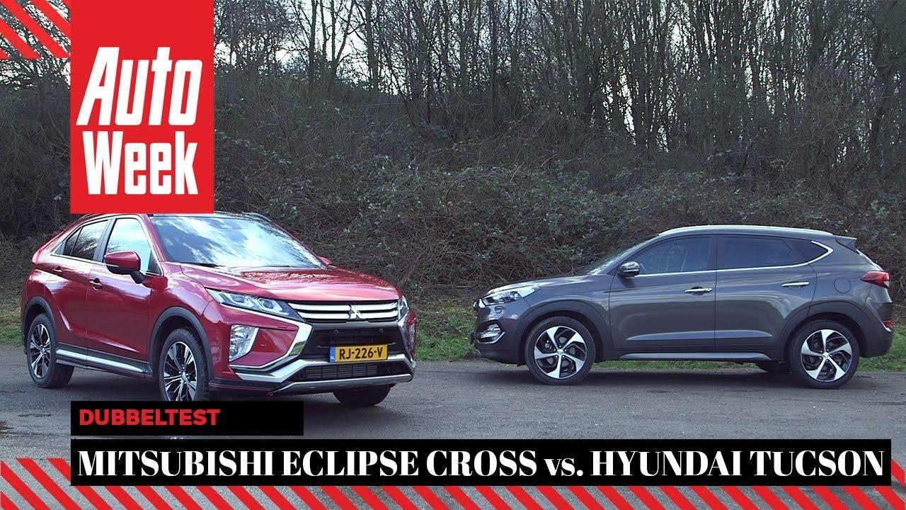 mitsubishi eclipse cross vs hyundai tucson autoweek dubbeltest english subtitles suv drive mitsubishi eclipse cross vs hyundai
