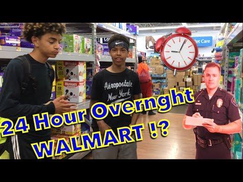 24 HOUR OVERNIGHT WALMART CHALLENGE!!!