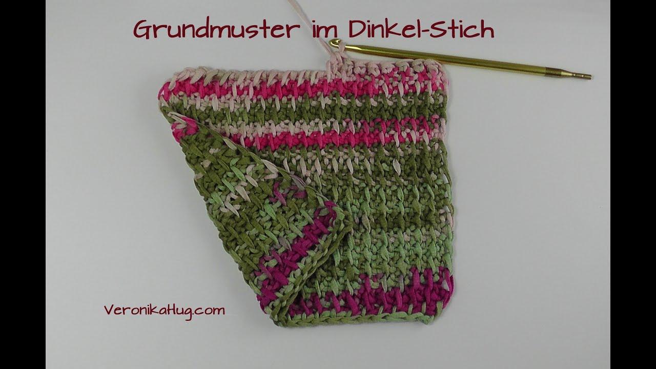 Tunesisch Häkeln - Grundmuster im Dinkel-Stich Woolly Hugs BANDY ...