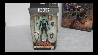 Marvel legends Captain Marvel Starforce Exclusive unboxing