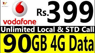Reliance Jio Effect | Vodafone Offers 90GB 4G Data, Unlimited Local & STD Calls at Rs.399 |Data Dock