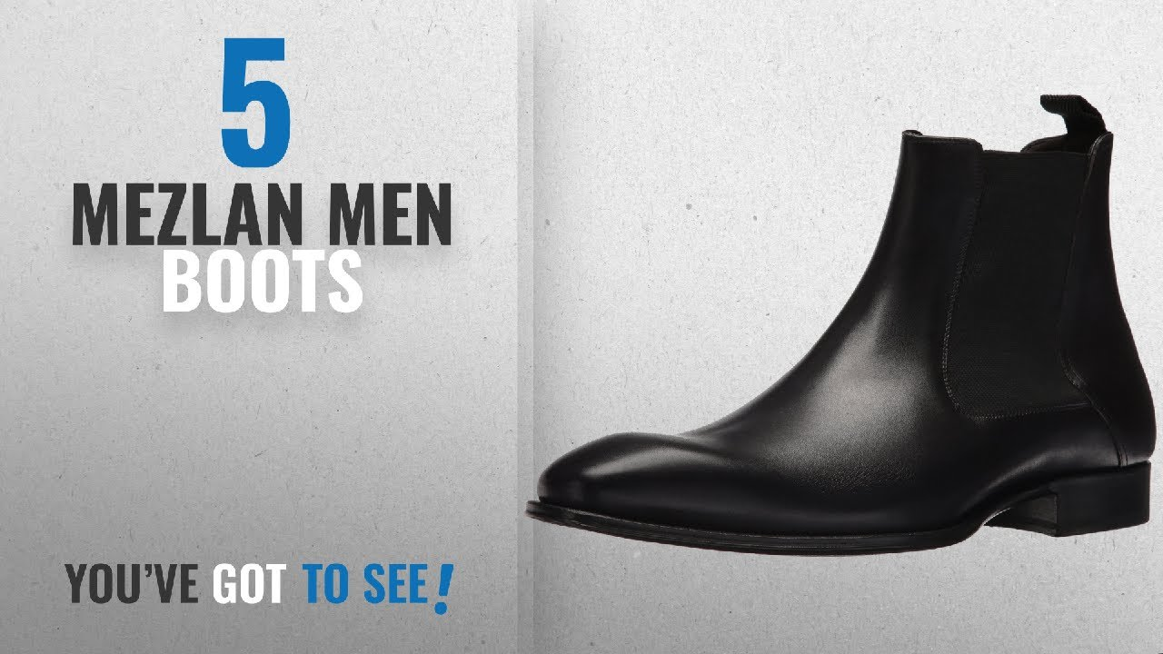 30a5edac269 Top 10 Mezlan Men Boots [ Winter 2018 ]: Mezlan Men's 18128 Chelsea Boot,  Black, 8.5 US/8.5 M US
