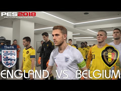PES 2018 (PC) England v Belgium @ Emirates Stadium | Official 2018 FIFA World Cup Kits & Ball