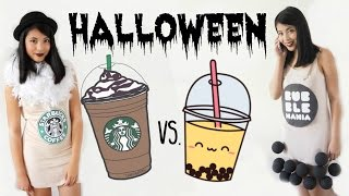 HALLOWEENSKÉ KOSTÝMY - Starbucks a Bubble Tea!