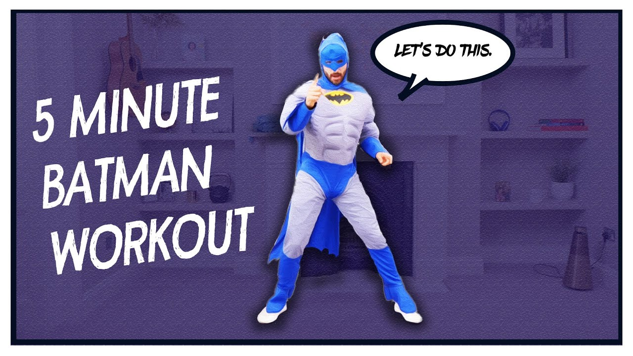 NEW!!! 5 minute BATMAN Workout for Kids | The Body Coach TV