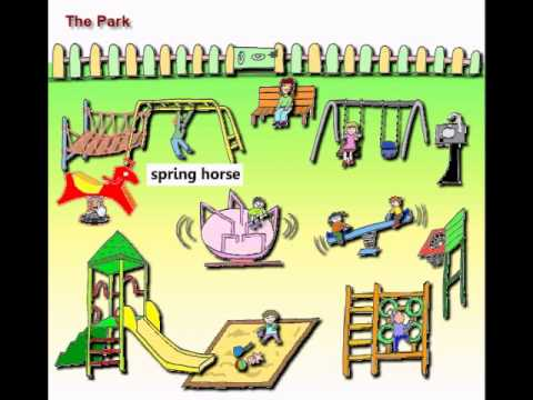 Clickable Word Picture for Kids - Park