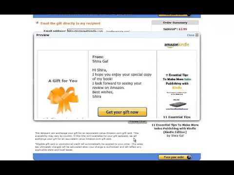 How to Give Your Kindle Book as a Gift in Amazon