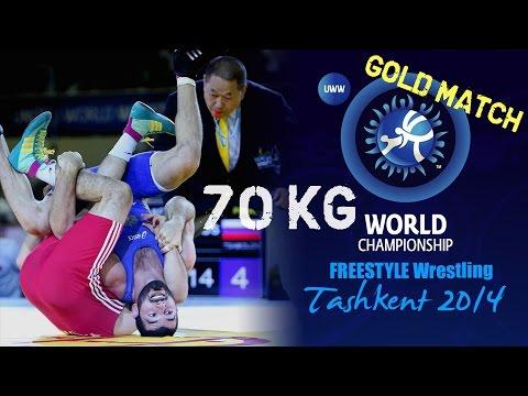 Gold Match - Freestyle Wrestling 70 kg - Y. GOR (TUR) vs K. TSABOLOV (RUS) - Tashkent 2014