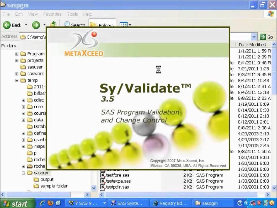 Sy/Validate is used for SAS Program Validation, SAS Program