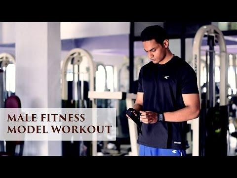 Male fitness model workout (Bangalore)