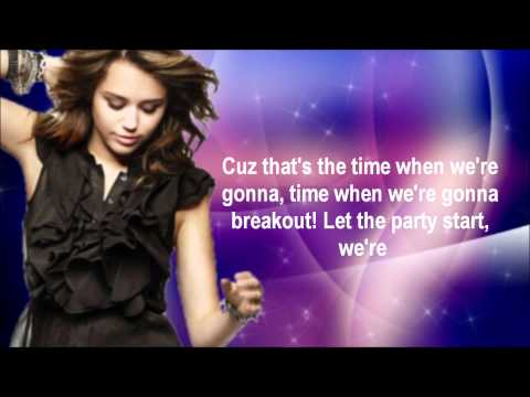 Miley Cyrus BreakOut [Lyrics On Screen]