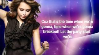 Miley Cyrus BreakOut [Lyrics On Screen]