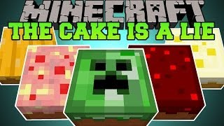 Minecraft: THE CAKE IS A LIE (DEADLY AND EPIC CAKES!) Cake is a Lie Mod Showcase