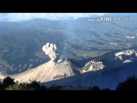 Santiaguito eruption filmed from Santa Maria, Guatemala