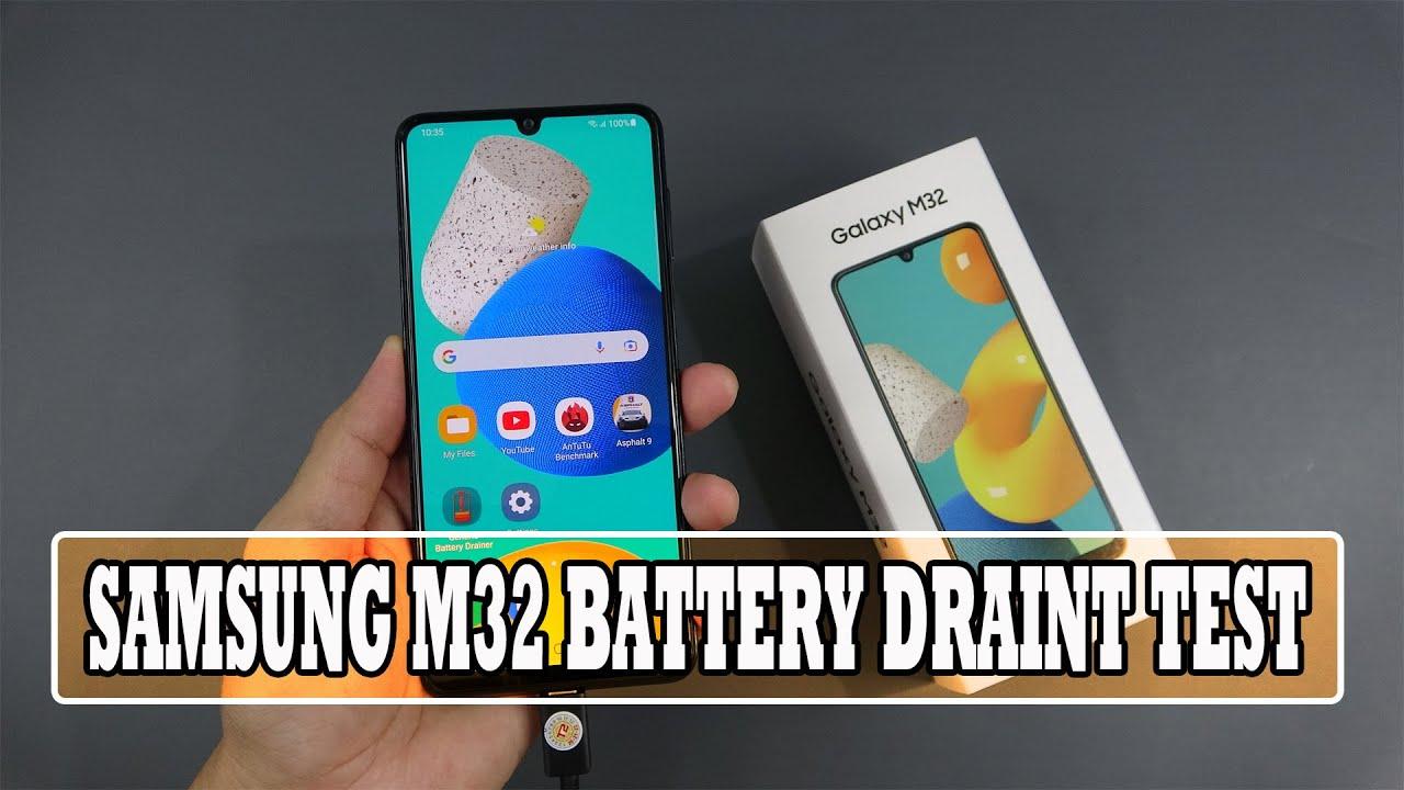 Samsung Galaxy M32 battery drain test
