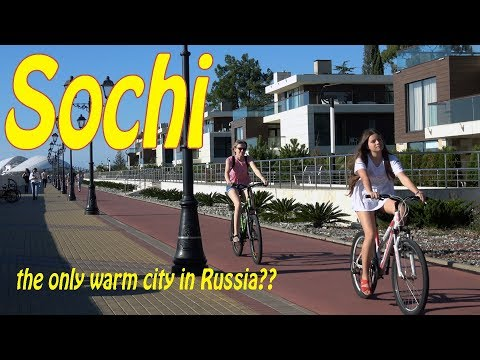 Sochi Russia 4K. City | People | Sights