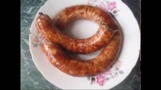 Домашняя колбаска в духовке (Homemade sausage in the oven)