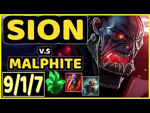 TRUKLAX (SION) vs MALPHITE - 9/1/7 KDA TOP GAMEPLAY - EUW Ranked GRANDMASTER