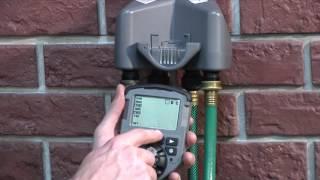 how to program an orbit 4 outlet hose faucet timer 56545