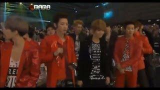 [HD] 121130 MAMA- EXO reactions during Big Bang performance
